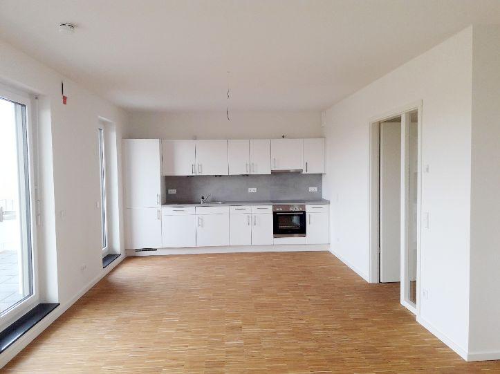 offene Küche mit Essbereich -- ab 01.08.2018 Geräumig & mit EBK. Zentral, Fußbodenheizung, geräumige Dachterrasse!
