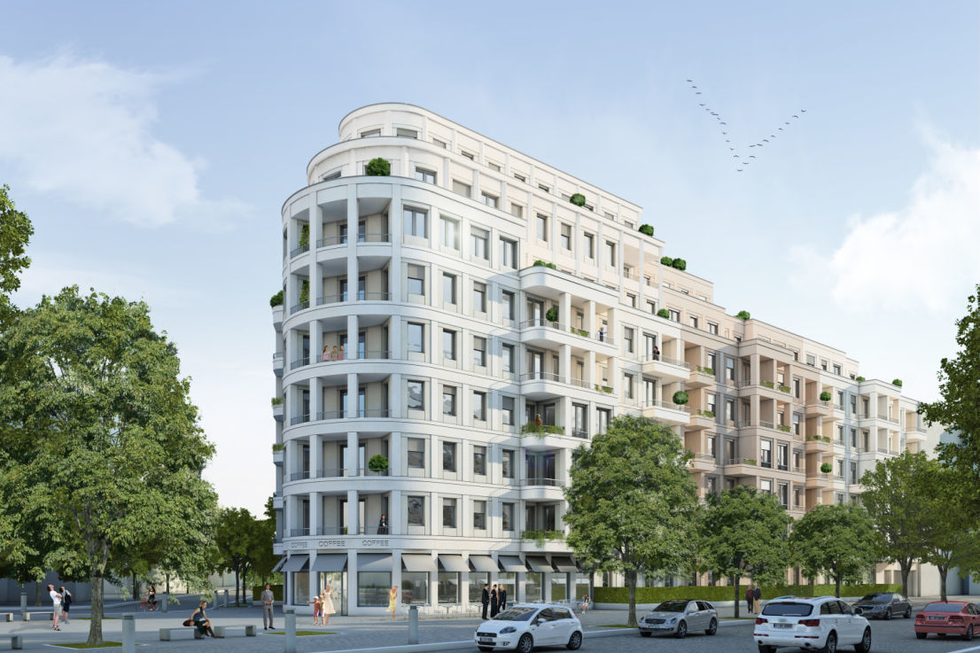 Hausansicht -- New, modern 1-bed flat with a built-in kitchen available for rent in Carré Voltaire