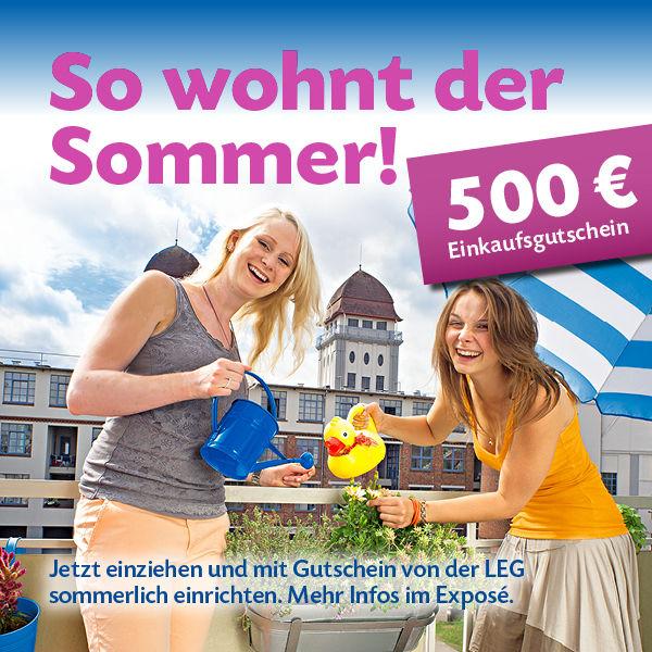 LEG-Sommer-500-EUR -- Jetzt wieder verfügbar bei der LEG in Odenkirchen ++ Renovierungsgutschein sichern