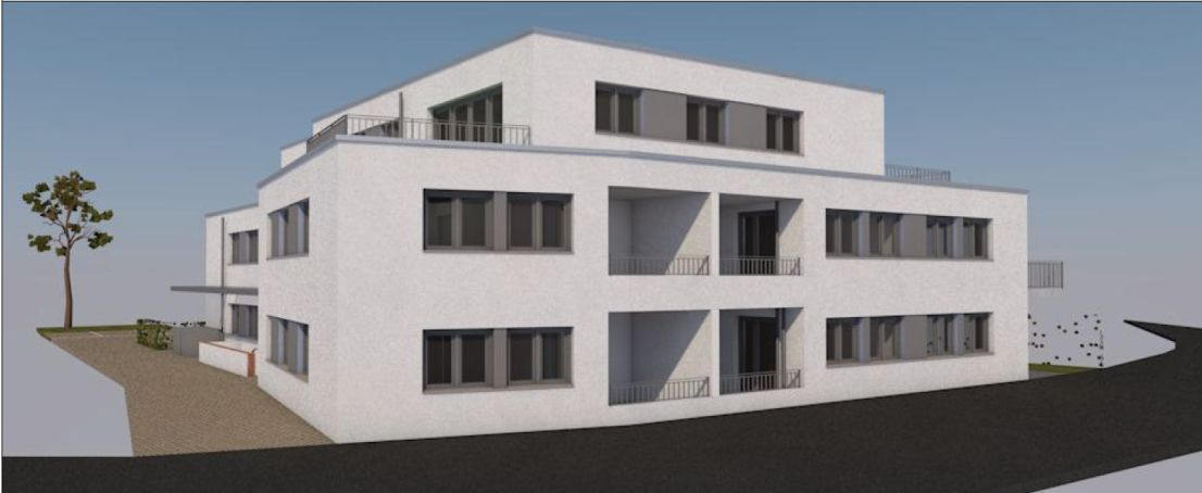 Ansicht -- Erstbezug mit Balkon: ansprechende 2-Zimmer-Erdgeschoss-Wohnung in Alfter