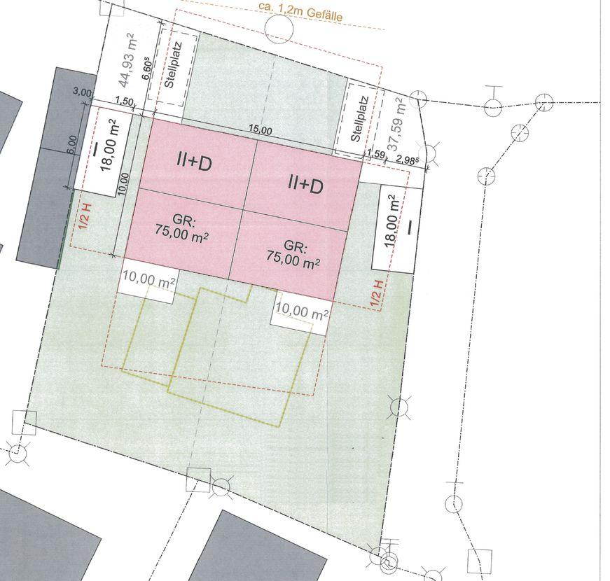 Grundstück -- Baugrundstück für ein großzügiges Doppelhaus oder Einfamilienhaus (mit Altbestand)