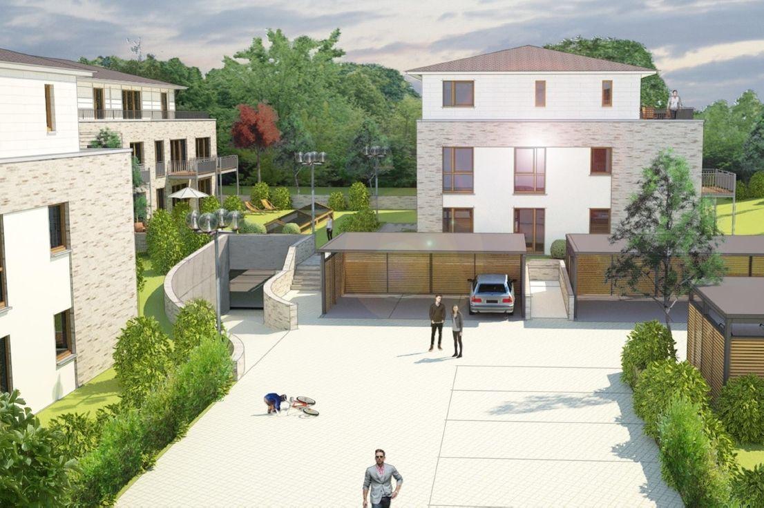Perspektivzeichnung -- Attraktiver Neubau in der Schusterstadt