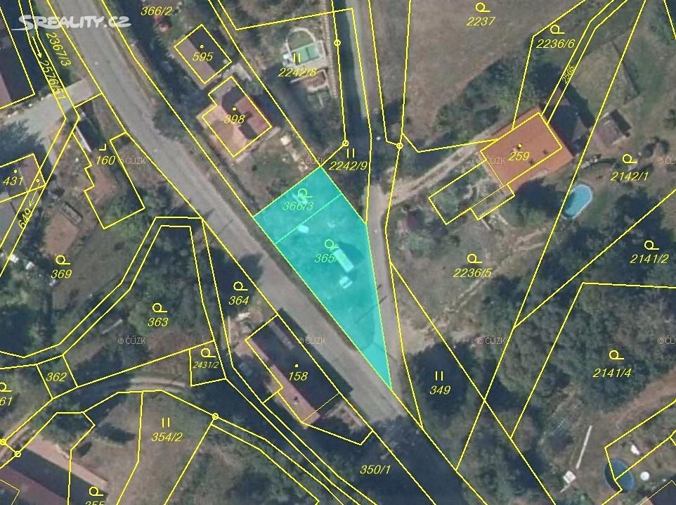 Prodej  stavebního pozemku 463m², Hnátnice, okres Ústí nad Orlicí