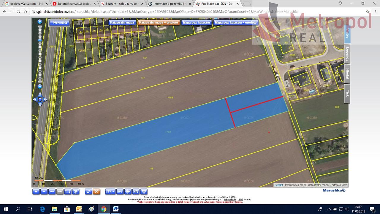 Prodej  stavebního pozemku 8388m², Mikulovice, okres Znojmo