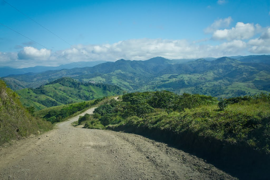 Endless unpaved mountain road in CR...