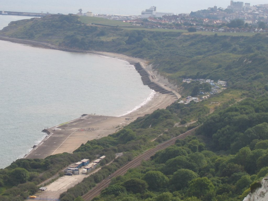 Folkestone, overlooking campsite and sea...