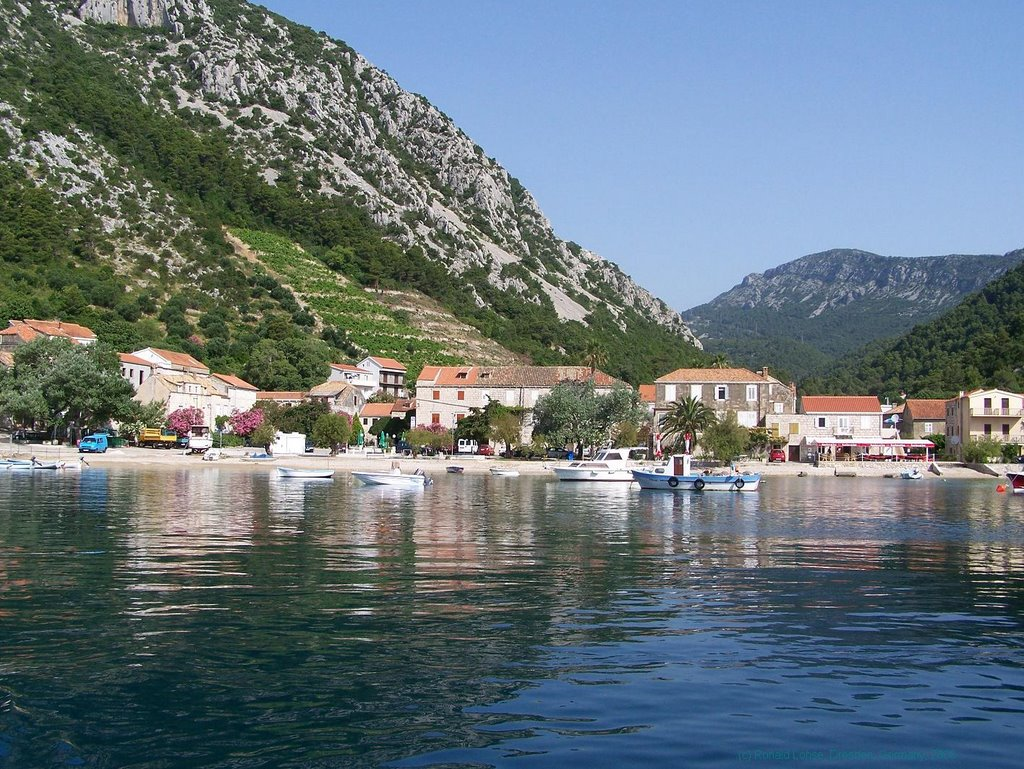 The nice small village and port Trstenik -rolo 2006-