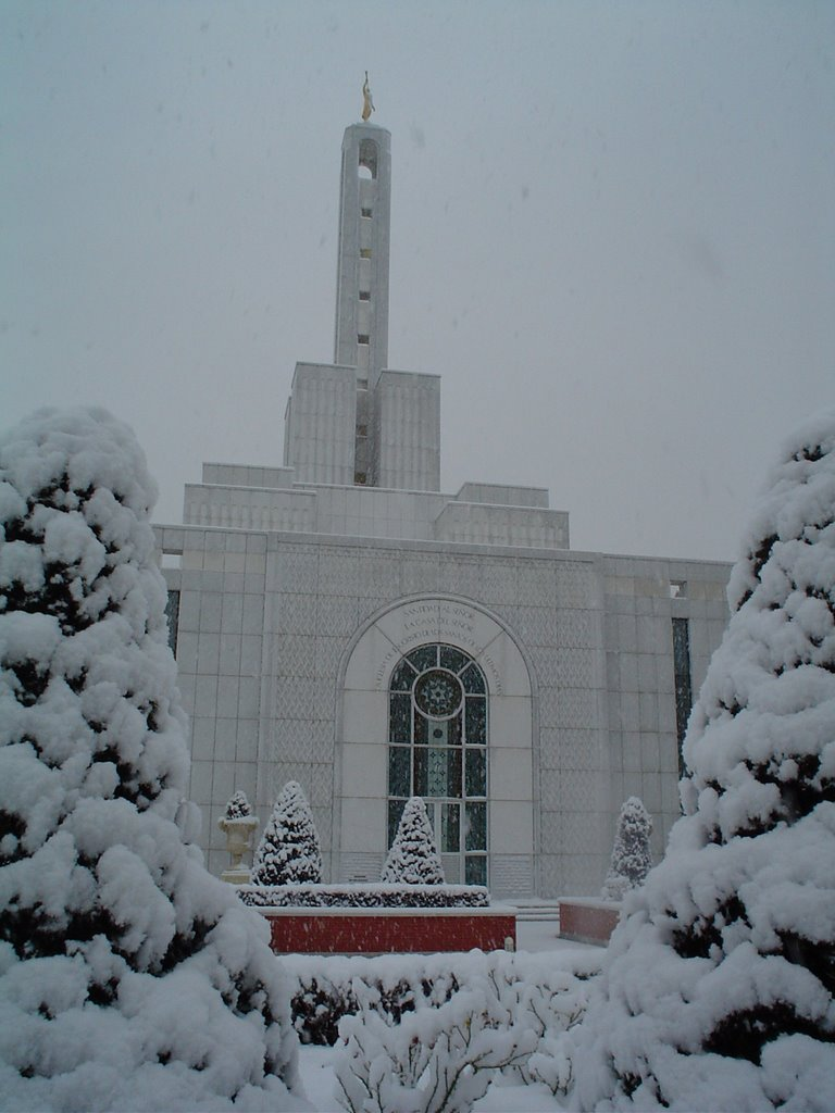 El Templo de Madrid nevado
