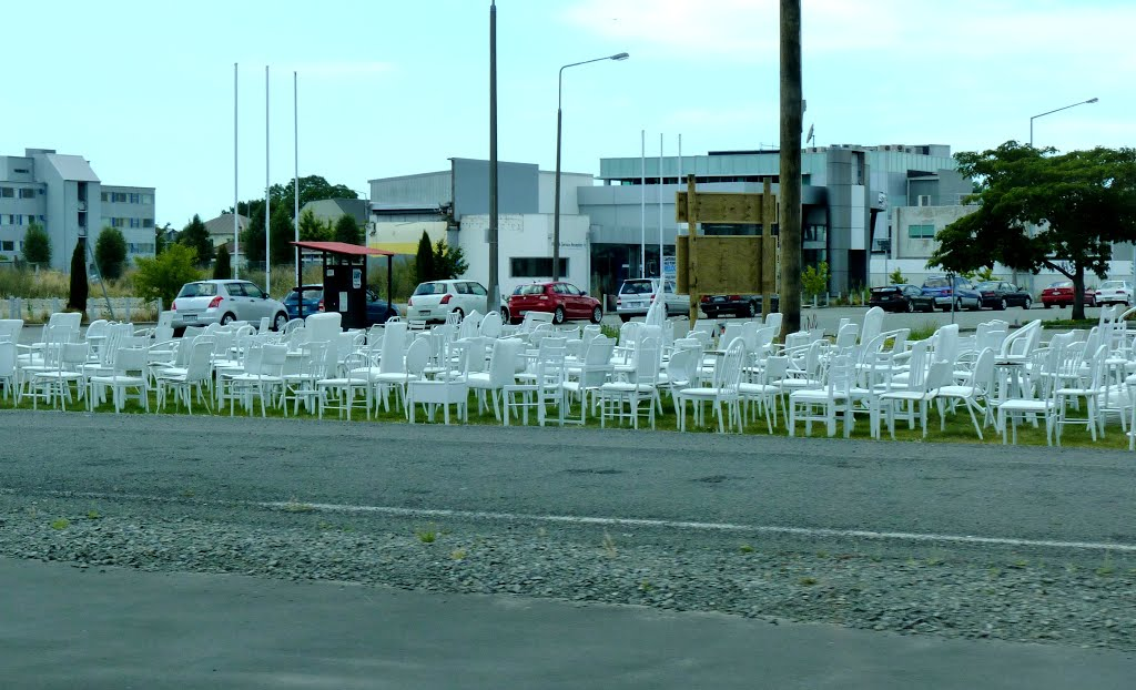 Temporary Memorial for Victims of Earthquake, Christchurch, New Zealand
