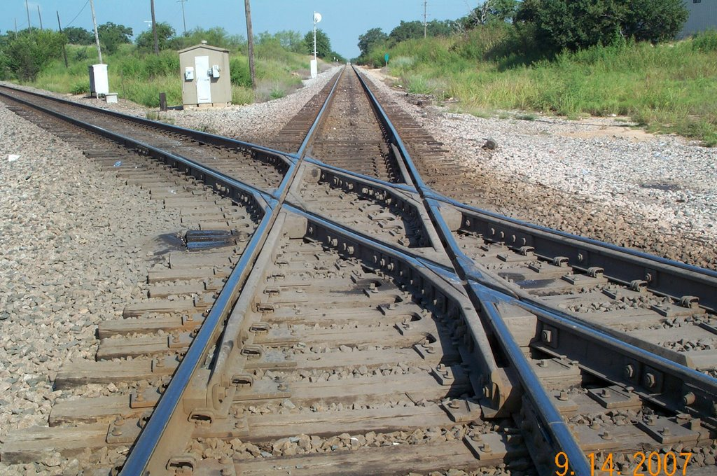 BNSF and Union Pacific Track Crossing