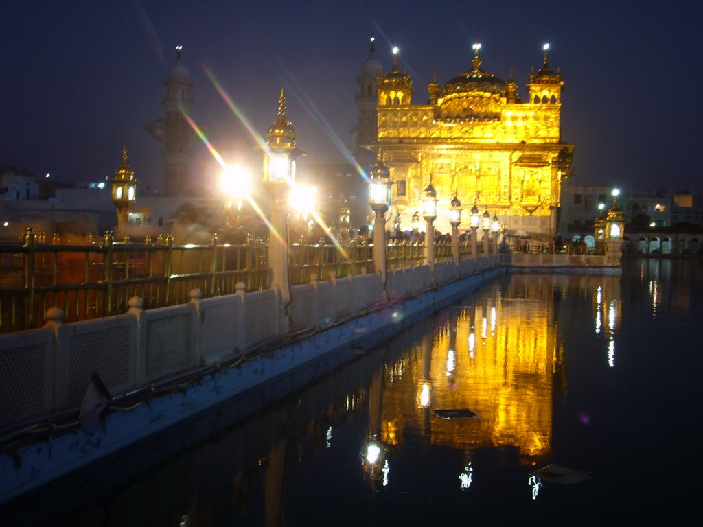 Gurus' bridge. Golden temple complex. Amritsar. Punjab. India.