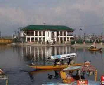 Shikara, a small boat in Dal Lake