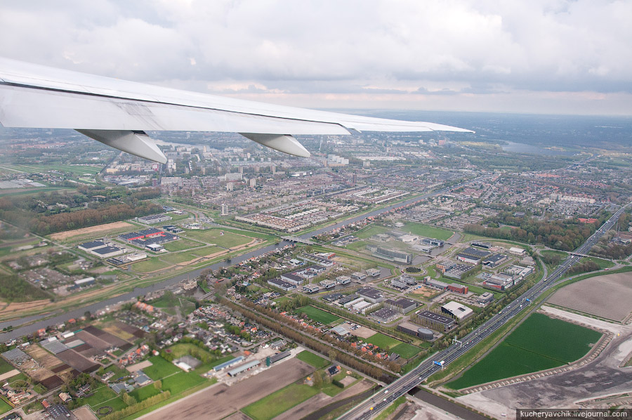 Take-off at Schiphol airport