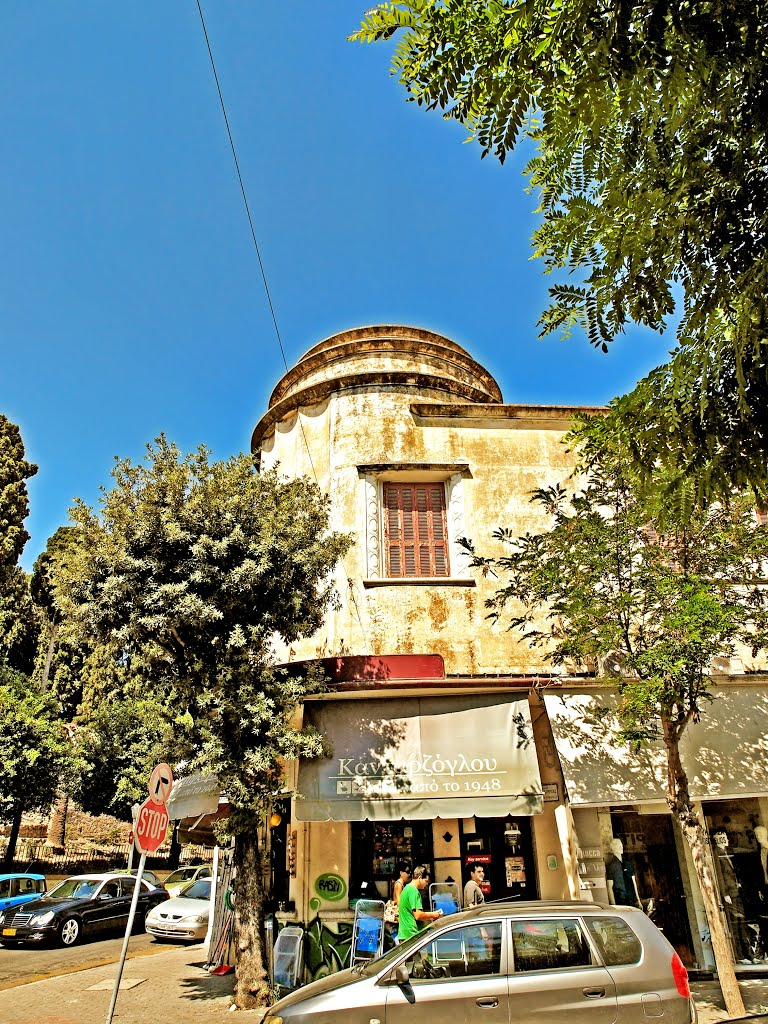 Amerikis Street is the main shopping street selling fashion in Rhodes