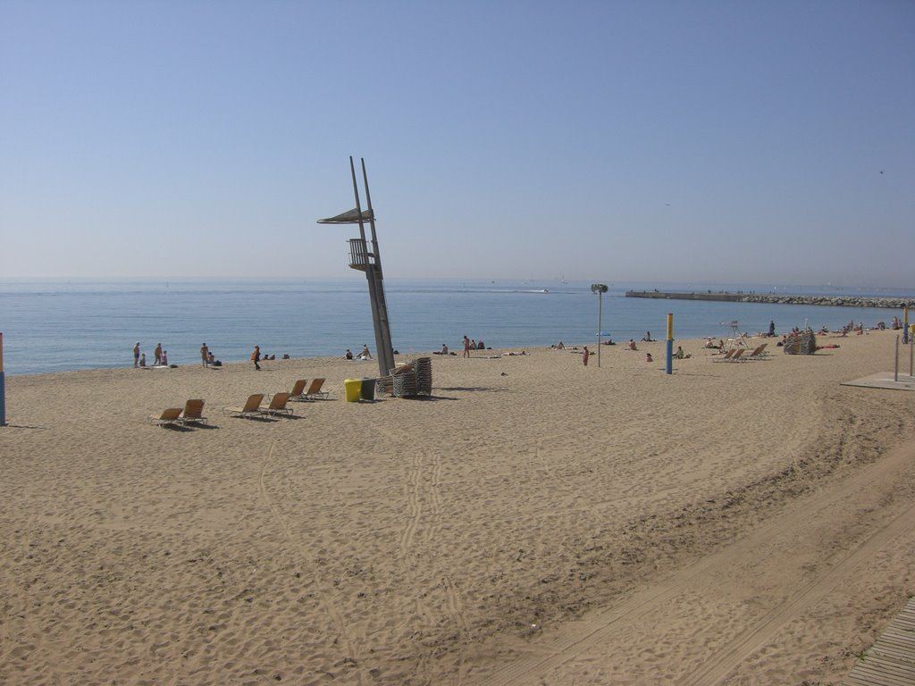 Barcelona Beach in front of Barcelo Hotel
