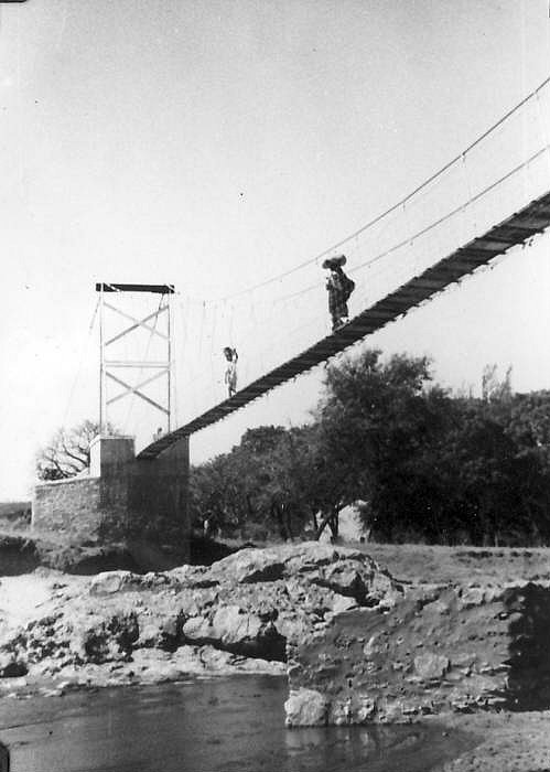 Kondoa River Suspension Bridge in the early 1950s