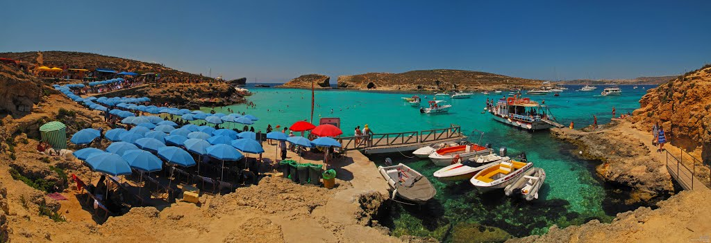 MLT Comino isl. Blue Lagoon (Cominotto isl.) Panorama by KWOT (1 year+ without Google Earth Selection !!!)