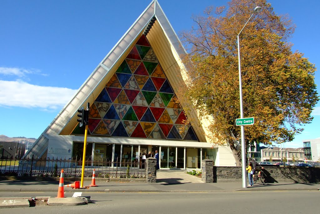 The Transitional (Cardboard) Cathedral, Christchurch, NZ.