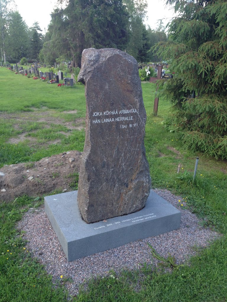 A monument for those who starved in Kärsämäki