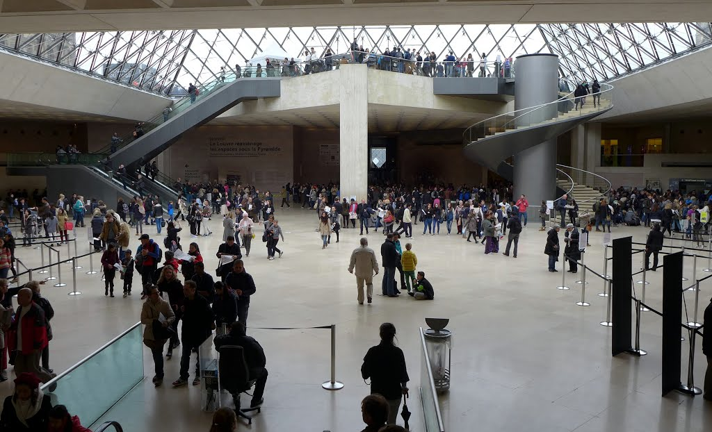 Central courtyard of the Louvre