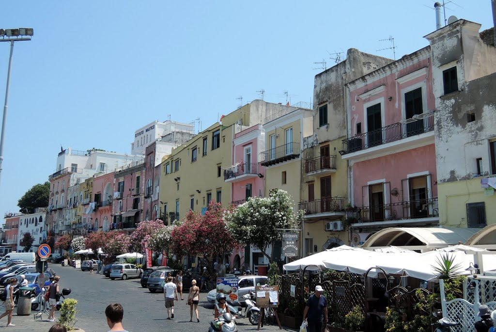 Buildings at Via Roma, Procida