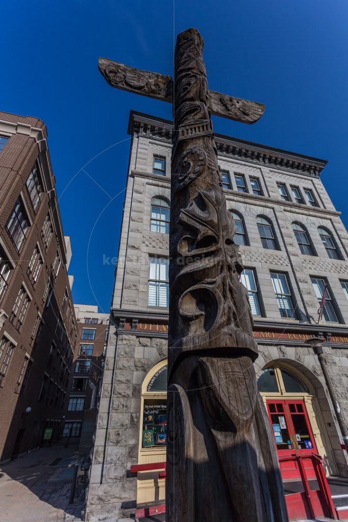 """Totem Pole Totem Pole outside the Ottawa School of Art, Ottawa, Ontario, Canada<a href=""""http://www.alamy.com/image-details-popup.asp?ARef=EJX020"""">License with Alamy</a> © 2013 Kenneth Taylor"""