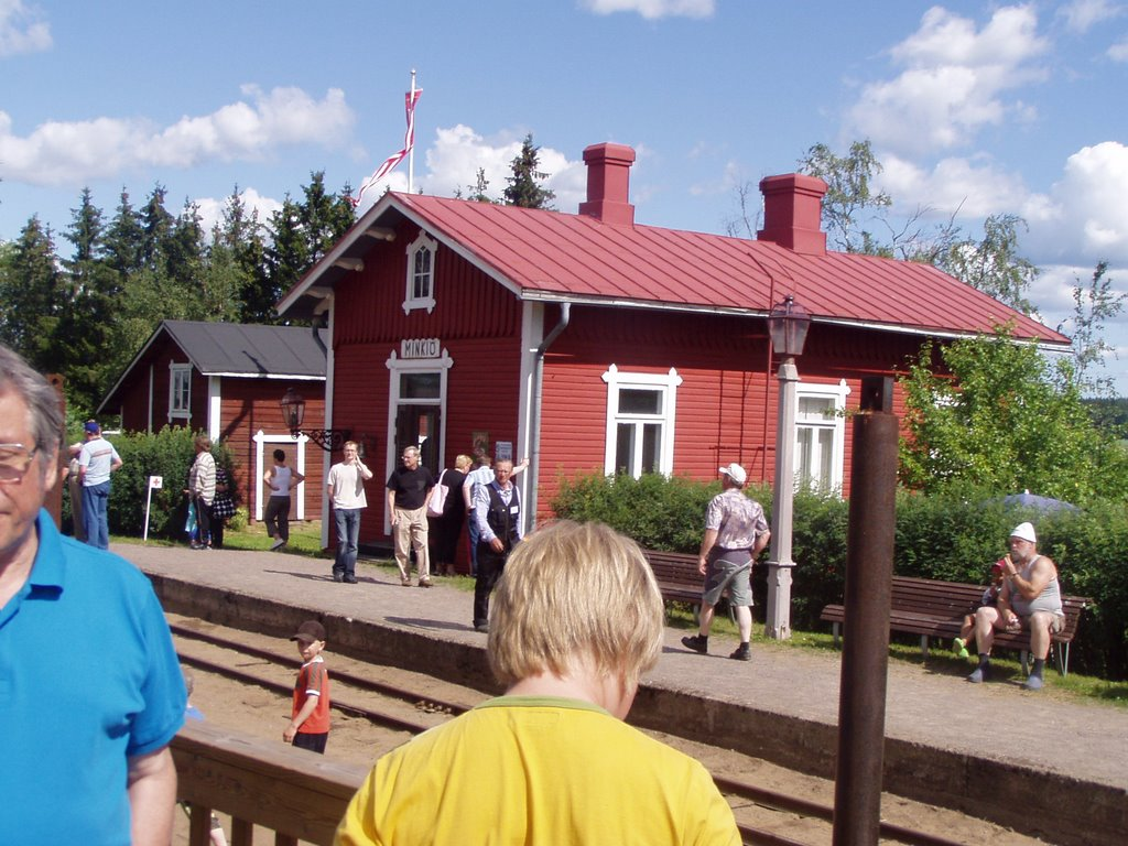 Old railway station in Minkiö village, Jokioinen