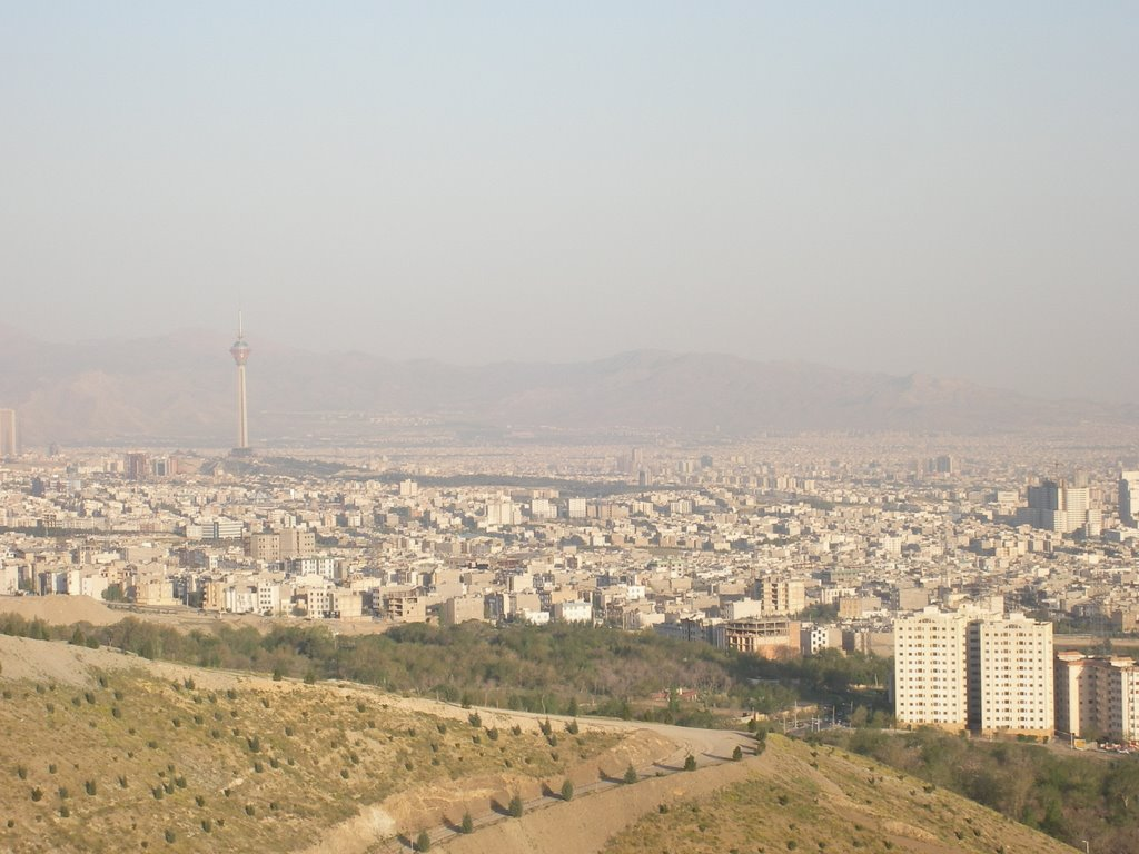 View from Kuhsar facing Borj-e Milad