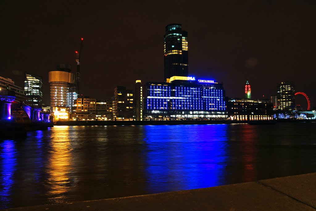 London by night. Sea Containers House