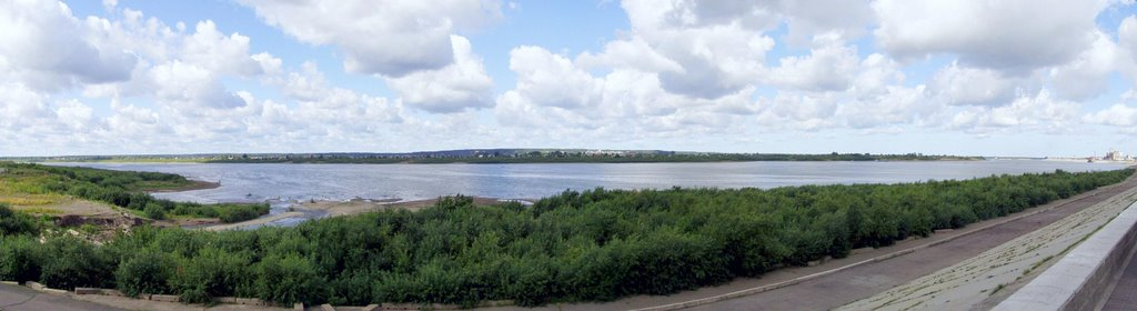 The panorama of river Tom'