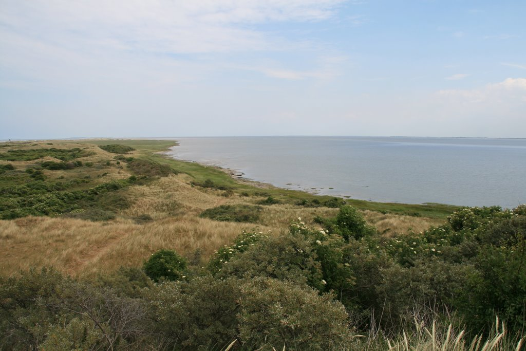 View from the top of the Oerd dune at the Wadden Sea, Ameland