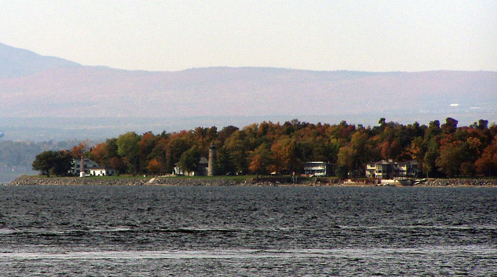 Cumberland Head Lighthouse as seen from Grand Isle, Vermont
