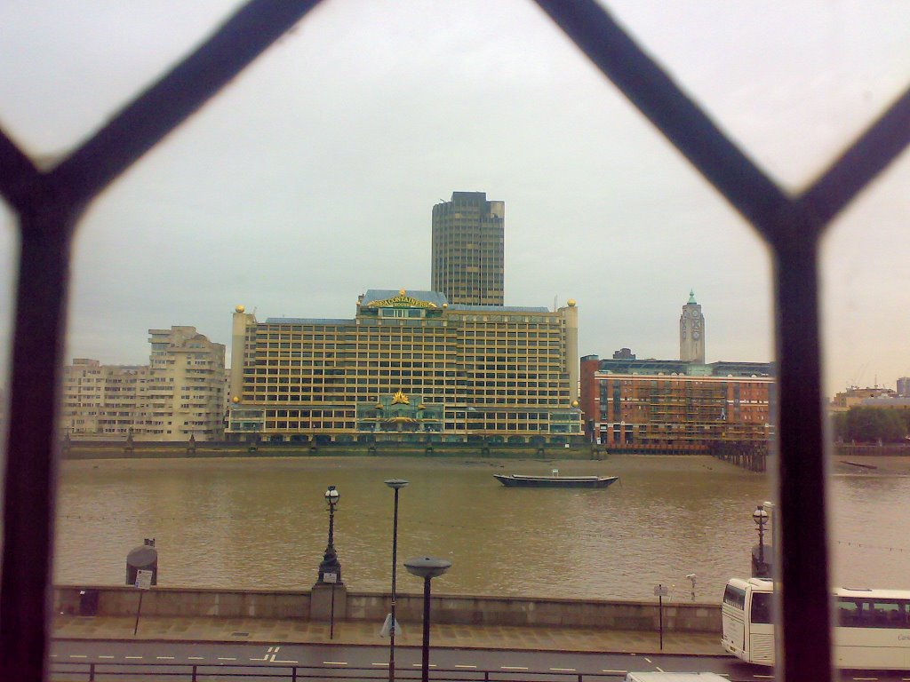 Sea Containers House (a view from a building at the other side of the Thames)