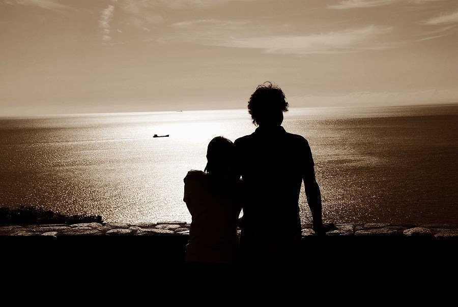 Two beautiful silhouettes