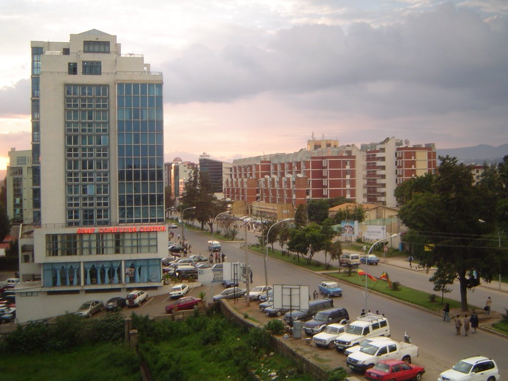 Africa Street from Friendship City Center, Addis Ababa