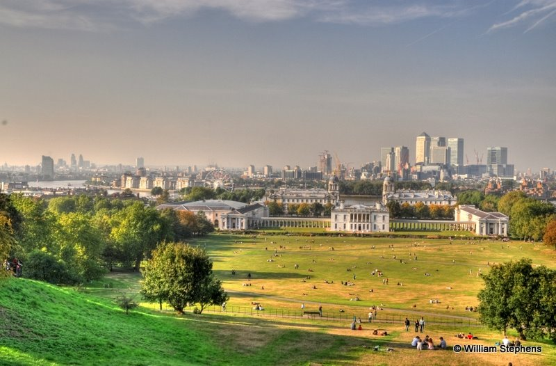 View to the City from Greenwich Observatory