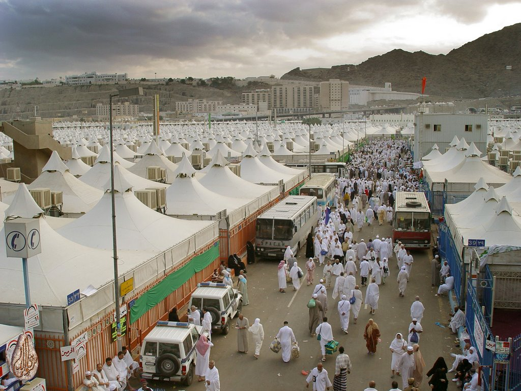Mina Is A Desert Location Situated Some 5 Kilometres To The East Of The Islamic Holy City Of Mecca Makkah In The Valley Of Mina Is The Jamarat Bridge The Location Of