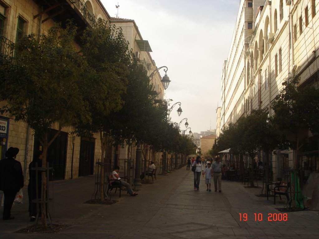 The charm Street in Centre of Jerusalem