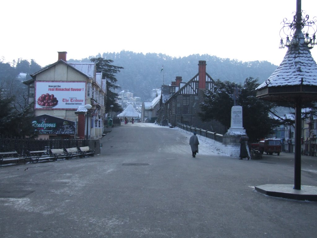 RIDGE OF SHIMLA AFTER SNOW FALL