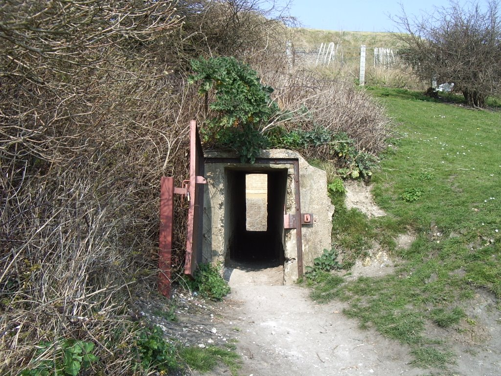 Drop Redoubt Moats, South Entrance Tunnel, Western Heights, Dover, Kent, UK