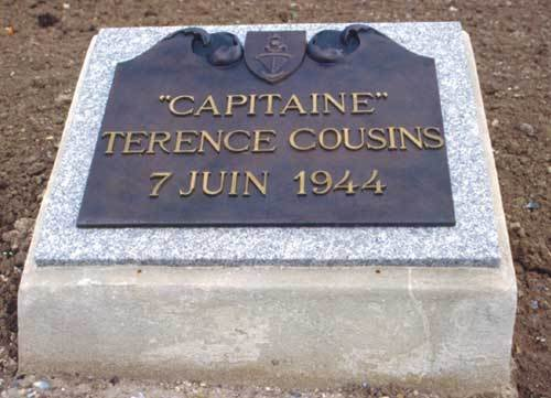 French memorial to Captain Cousins