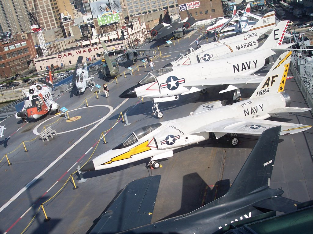 Fighter Planes On A Aircraft Carrier ,  Intrepid Sea-Air-Space Museum , Manhattan New York.