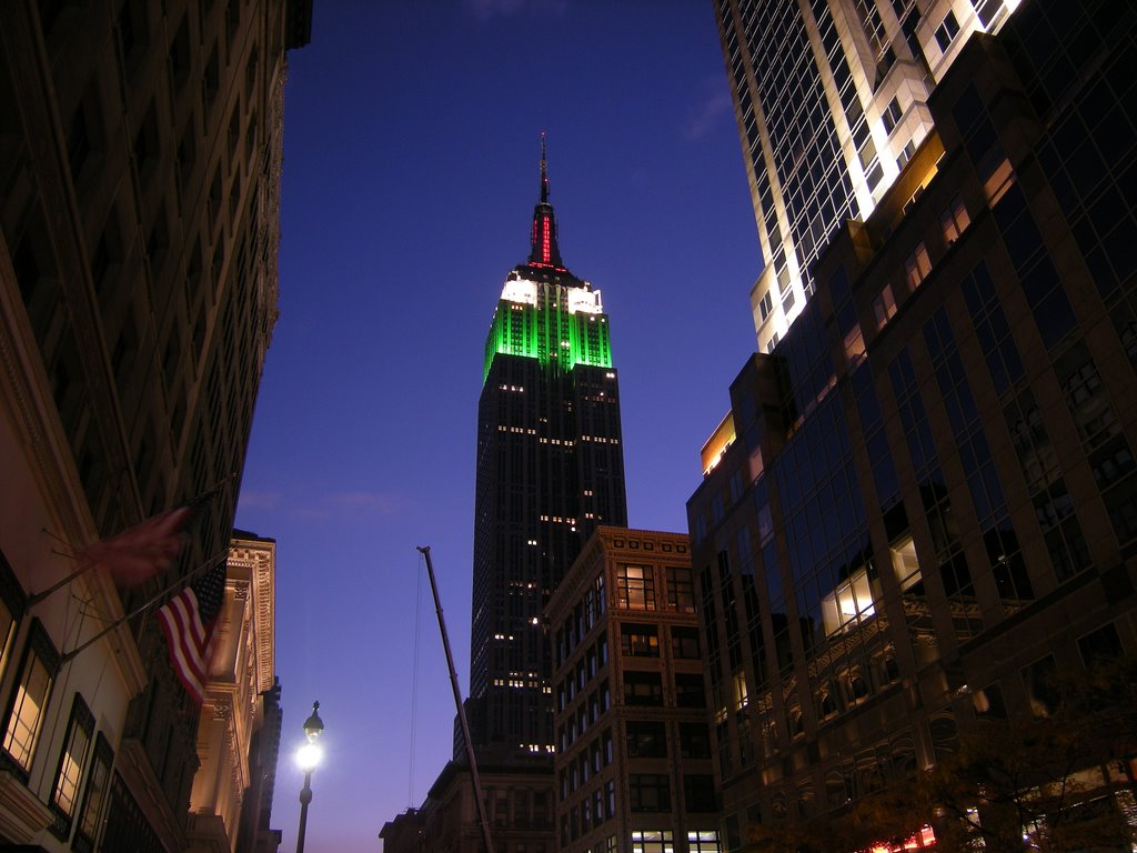 The Empire State Building (Lighting for Radio City Music