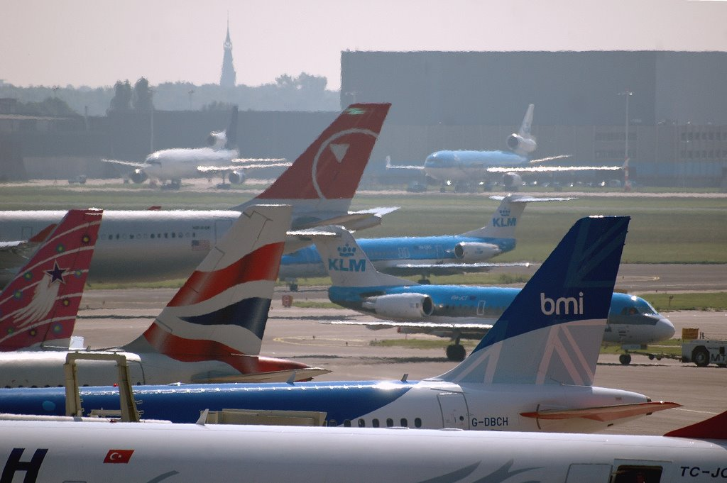 Schiphol Airport: Aircraft Tails