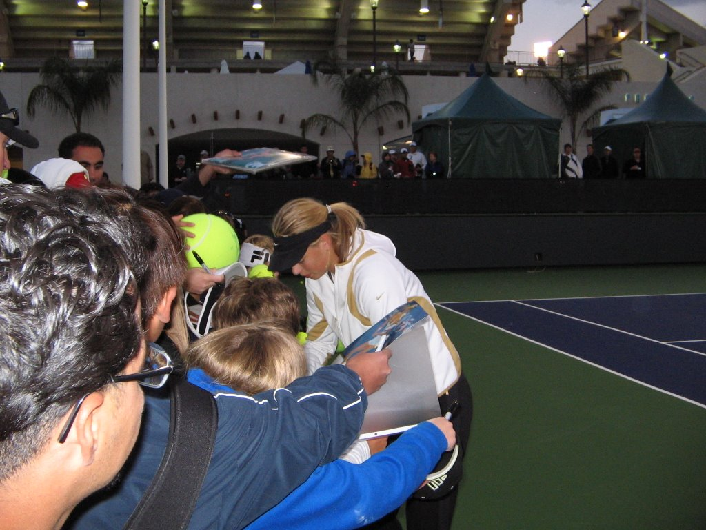 ATP Masters Series Indian Wells (Autographs by Maria Sharapova)