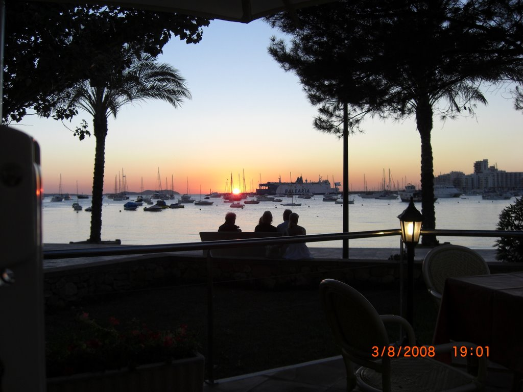sunset from a bar