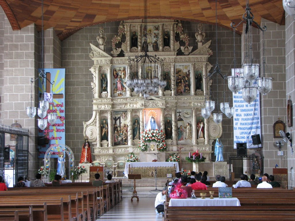 Altar with Devotees of the Church of Silang, Cavite
