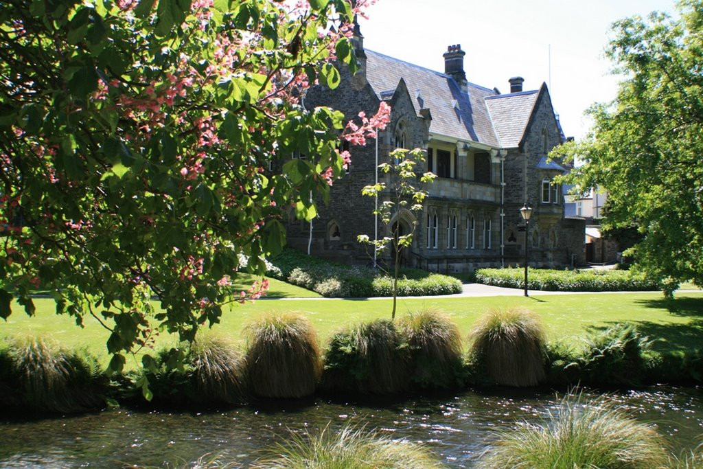 Strolling along the Avon in Christchurch