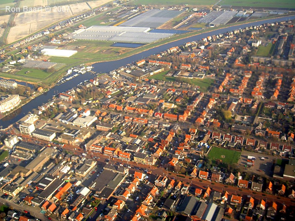 The Dutch village Zwanenburg from air