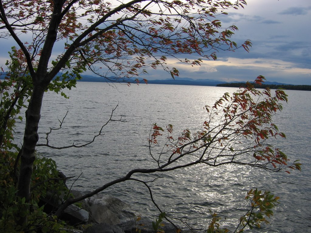 Lake Champlain from causeway in South Hero